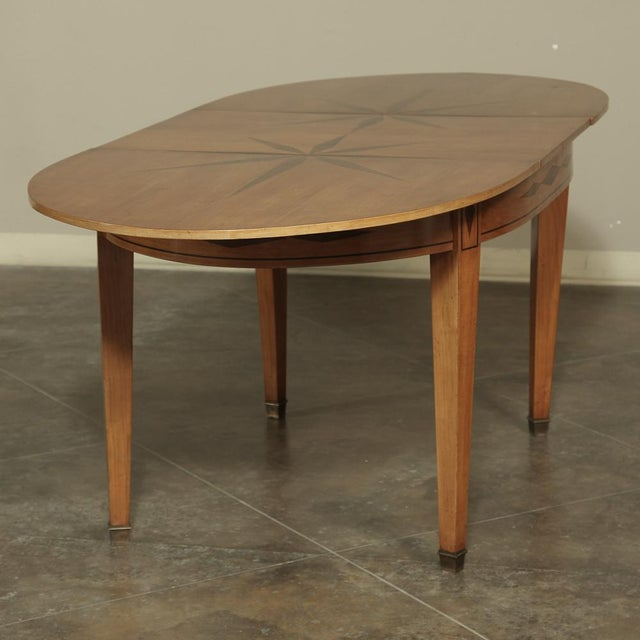 Mid-Century French Directoire Style Inlaid Table For Sale - Image 9 of 13