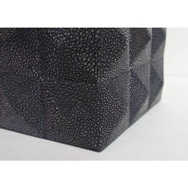 Fabio Ltd Pyramid Black Shagreen Box by Fabio Ltd For Sale - Image 4 of 8
