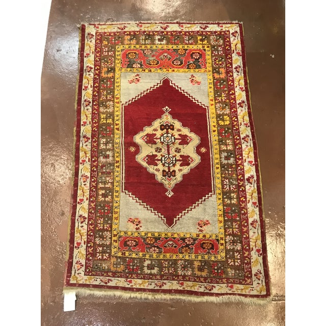Mid 20th Century Antique Wool Turkish Rug For Sale - Image 5 of 5
