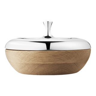 Georg Jensen Modern Stainless Steel Bonbierre Turnip Designed By Henning Koppel For Sale