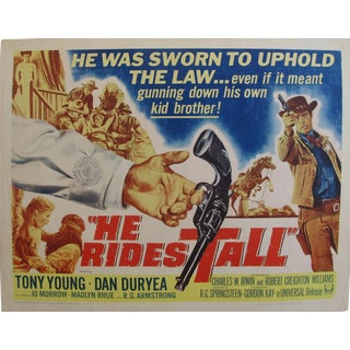 "1964 Original American Movie Poster - ""He Rides Tall"" With Tony Young & Dan Duryea For Sale"