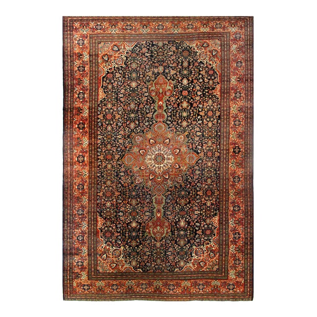 Late 19th Century Antique Persian Sarouk Farahan Rug - 12′ × 18′8″ For Sale - Image 4 of 4