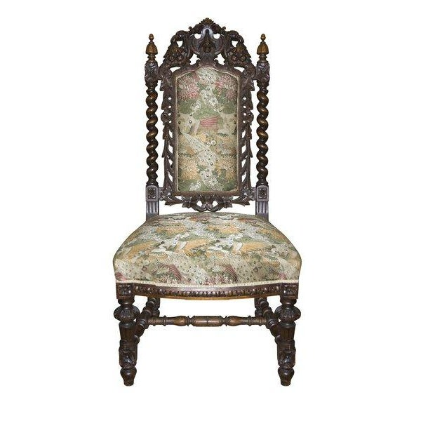 Antique Carved Baroque Chair - Image 1 of 2