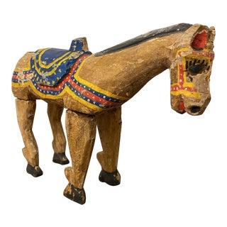Primitive Antique Wood Horse For Sale