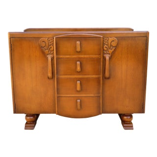 Art Deco Buffet or Bar Cabinet For Sale