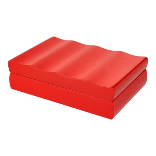 Veere Grenney Collection Denston Box in Chinese Red For Sale