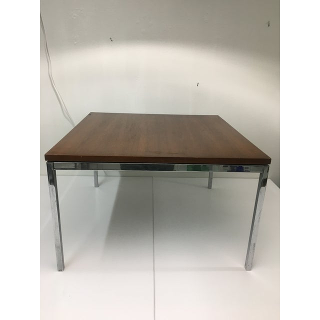 Mid-Century Modern Vintage Mid-Century Modern Walnut Side or Coffee Table by Florence Knoll For Sale - Image 3 of 10
