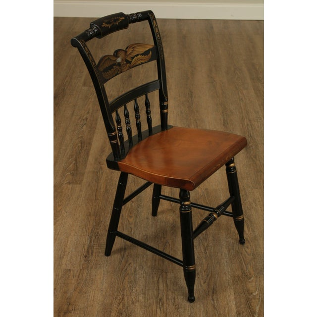 High Quality American Made Solid Maple Black Painted & Stenciled Side chair by Hitchcock Store Item#: 24419