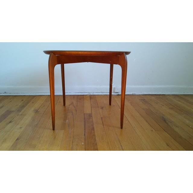 Danish Modern Fritz Hansen Teak Tray Table For Sale - Image 3 of 11