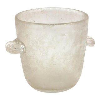 Art Deco Frosted Art Glass Ice Bucket For Sale