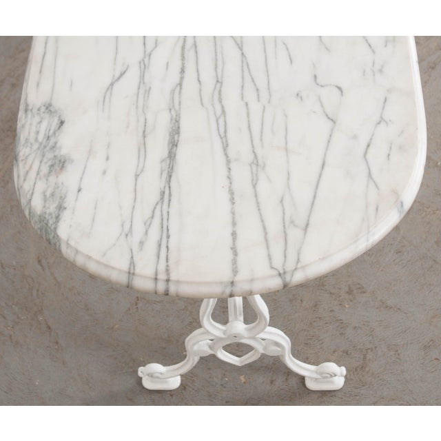 Early 20th Century French Marble Top Bistro Table For Sale - Image 4 of 10