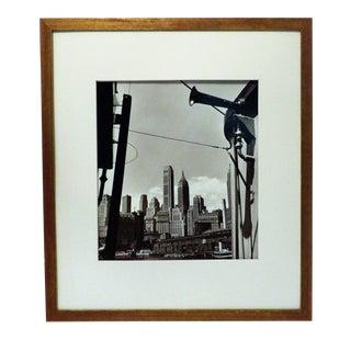 Vintage Original Signed Daniell NYC Air Raid Siren Photograph For Sale