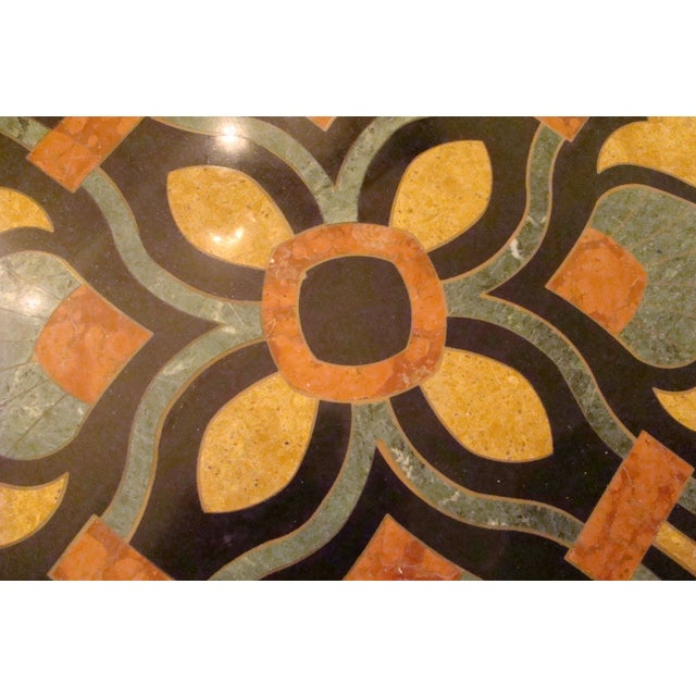 Italian Pietra Dura Marble Table For Sale In West Palm - Image 6 of 9