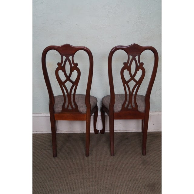 Ethan Allen Ethan Allen 18th Century Collection Mahogany Side Dining Chairs - a Pair For Sale - Image 4 of 10