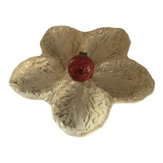 Italian Majolica Serving Platter W/Radish Decoration