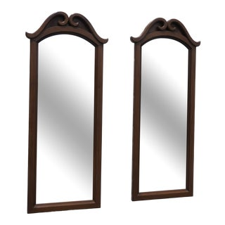 French Pair of Wall Bathroom Vanity Dresser Mirrors 2361 For Sale