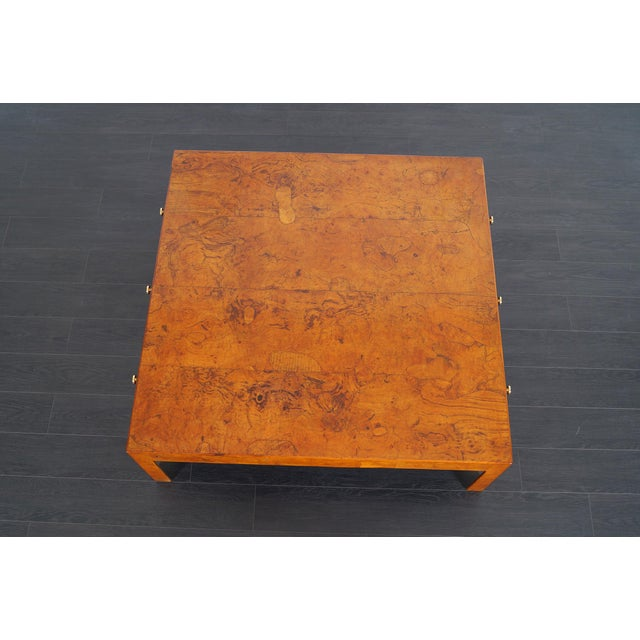 Vintage Italian Burl Wood Coffee Table by Cannell & Chaffin For Sale In Los Angeles - Image 6 of 8