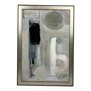 1960's Black and White Abstract by Graham Harmon For Sale