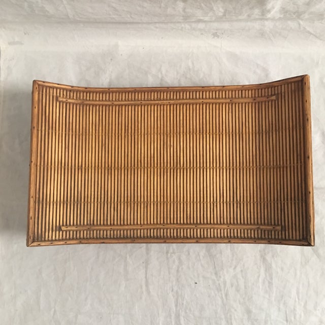 Late 20th Century Contemporary Asian Style Carved Wood Display Stand/Tray For Sale - Image 5 of 6