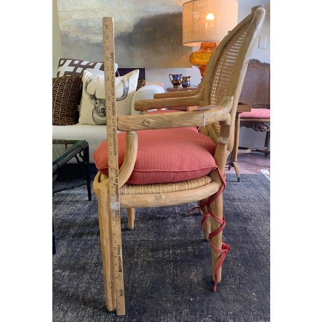 1970s Vintage Faux Bois Louis XVI Armchairs - Set of 6 For Sale - Image 12 of 12