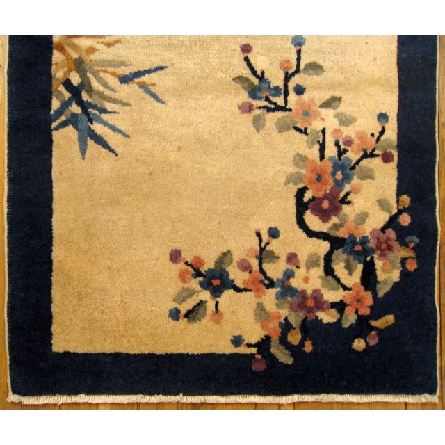 """Art Deco 1900s Antique Chinese Peking Oriental Rug-2'2'x3"""" For Sale - Image 3 of 4"""
