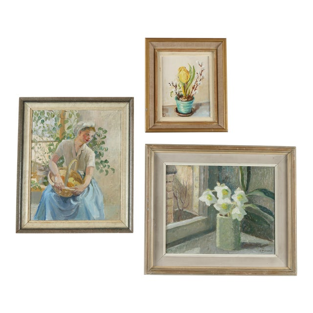 Gallery Wall Art Paintings - Set of 3 For Sale