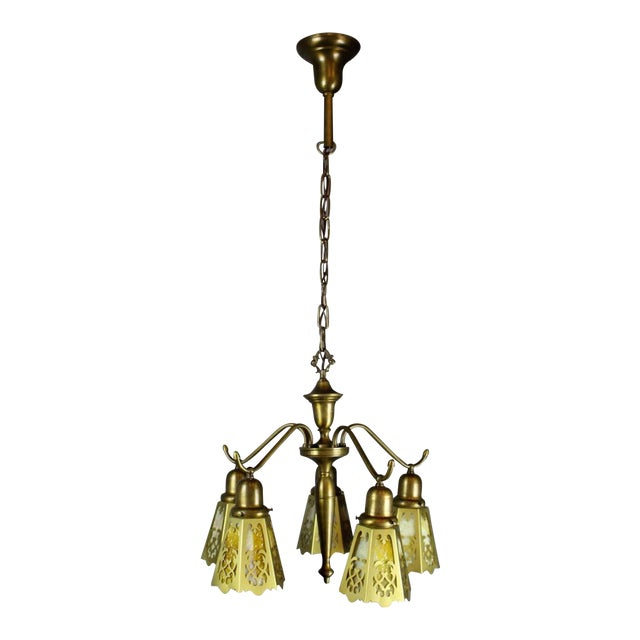 Antique Spindle Fixture (5-Light) - Image 1 of 8