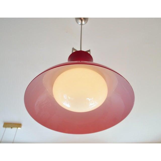 1950s Studio Venini Red Pendant, Murano Italy 1950s For Sale - Image 5 of 6
