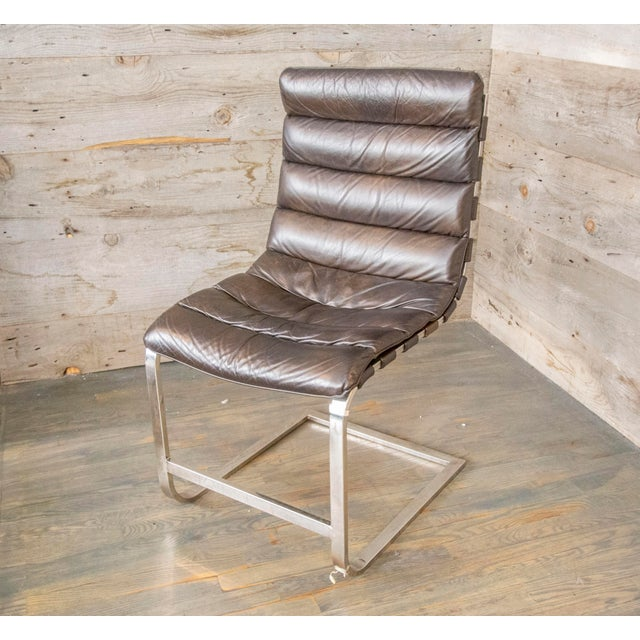 Strange Modern Oviedo Leather Side Chair Creativecarmelina Interior Chair Design Creativecarmelinacom