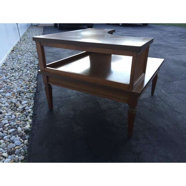 Vintage Baumritter Two Tiered Laminate Top Corner Table For Sale In New York - Image 6 of 8