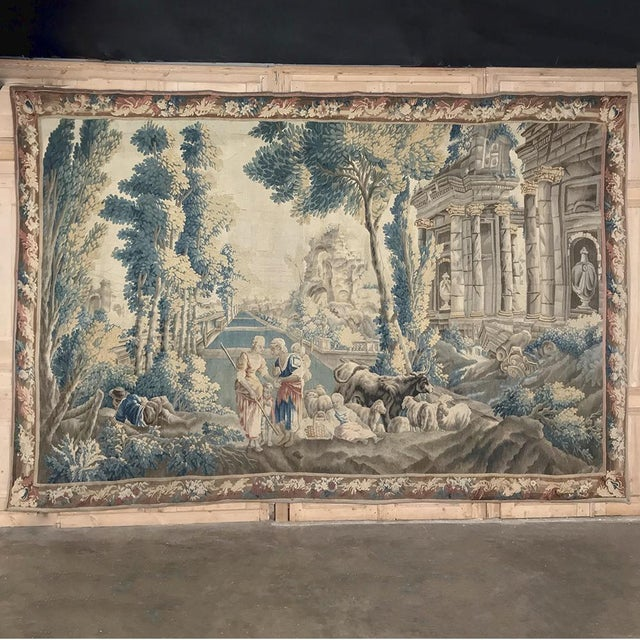 Grand 17th Century Oudenaarde Tapestry For Sale - Image 13 of 13