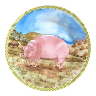 American Atelier Pig Collector Plate