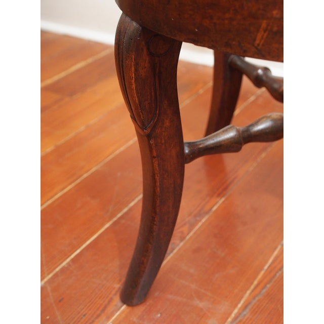 Stone French Round Marble Top Side Table For Sale - Image 7 of 9