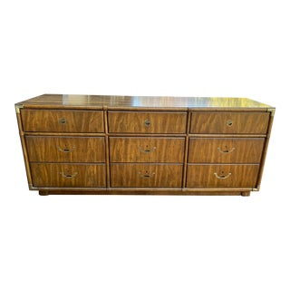 1970's Drexel Heritage Accolade Campaign Style Credenza For Sale