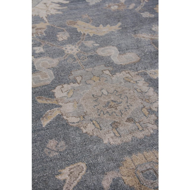Traditional Chester Hand knotted Bamboo/Silk Medium Blue Rug-8'x10' For Sale - Image 3 of 8