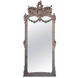 Monumental Louis XVI Style Painted Mirror For Sale
