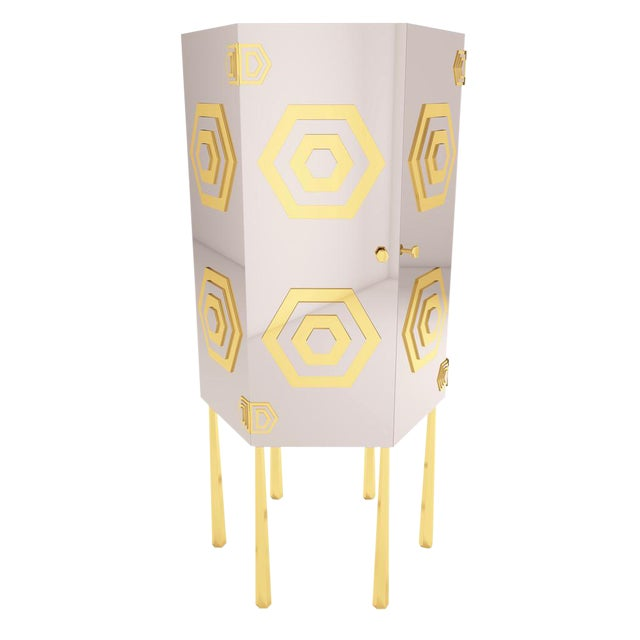 Hex Cabinet by Artist Troy Smith - Contemporary Modern Design - Handmade Furniture - Very Limited Edition For Sale