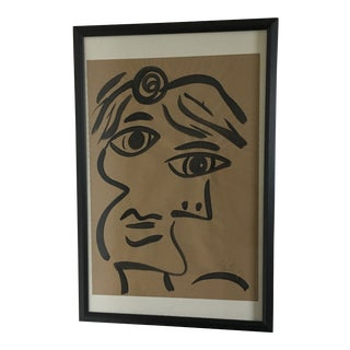 Peter Keil Large Cubist Abstract Face Painting