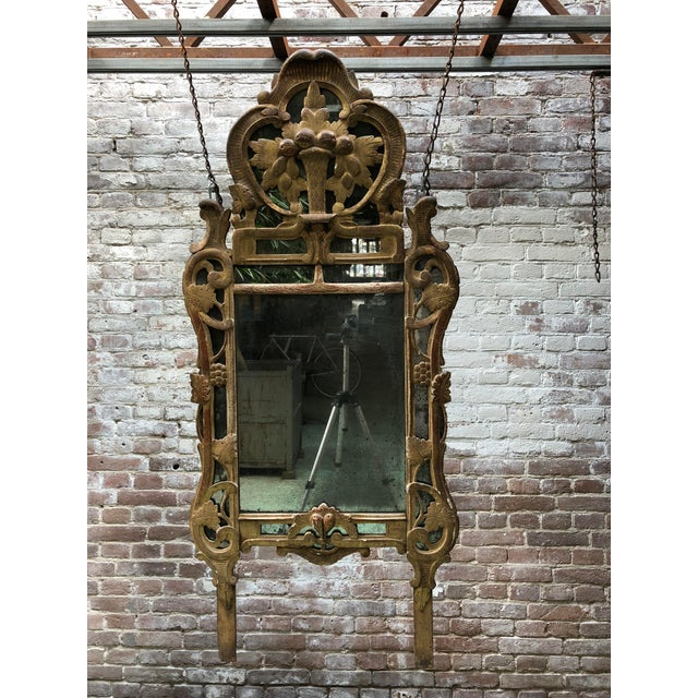 18th Century Louis XV Carved Gilt Wood Mirrors, Exceptionnel Set of Three. For Sale - Image 9 of 13