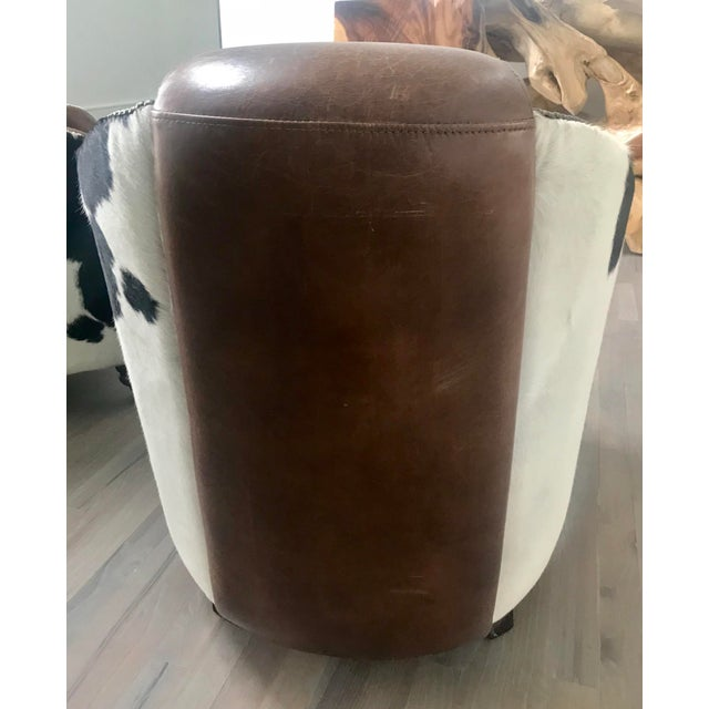 2010s Regina Andrew Leather Cowhide Club Chair For Sale - Image 5 of 11