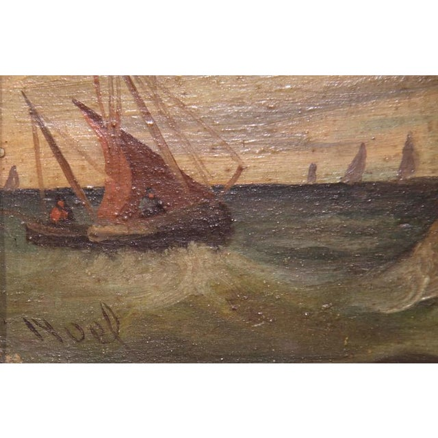 19th Century French Oil on Board Paintings - A Pair - Image 4 of 9