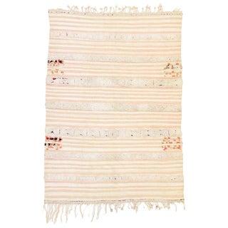 20th Century Moroccan Berber Handira Tamizart Wedding Blanket - 3′1″ × 5′7″ For Sale