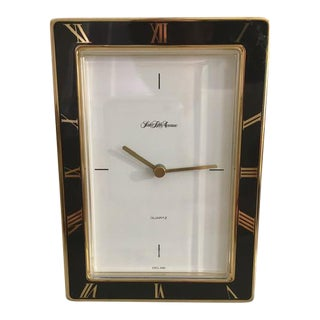 Vintage Saks Fifth Ave Table Top Clock For Sale