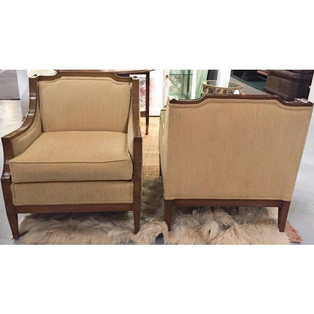 Mid-Century Regency, Transitional Style Club Chairs - a Pair - Image 6 of 8