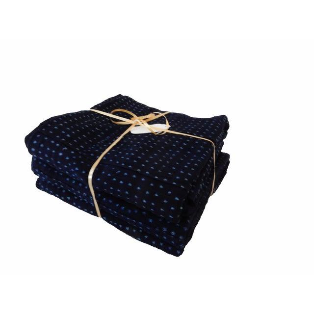 1960s Malian Indigo Mud Cloth Textiles - S/2 For Sale - Image 5 of 5