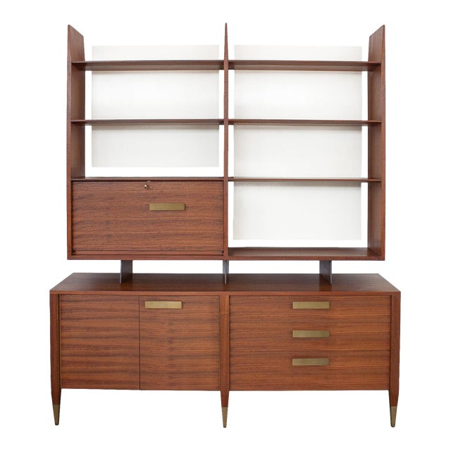 Gio Ponti for Singer & Sons Model 4120 Walnut Display Cabinet - Image 1 of 11