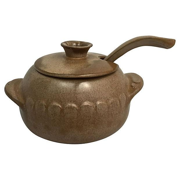 Frankoma Tureen With Warmer & Ladle For Sale - Image 4 of 10
