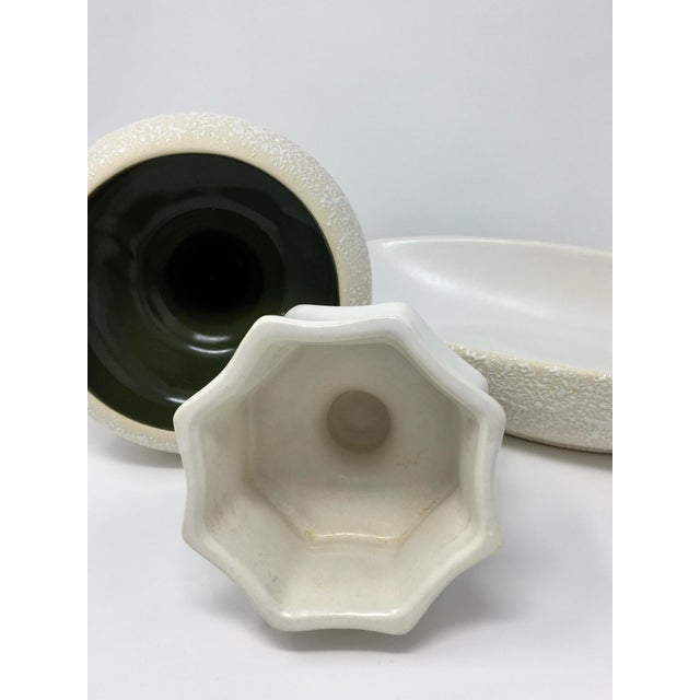 Mid-Century Modern Mid-Century Modern Winter White Pottery Collection - 3 Pieces For Sale - Image 3 of 13