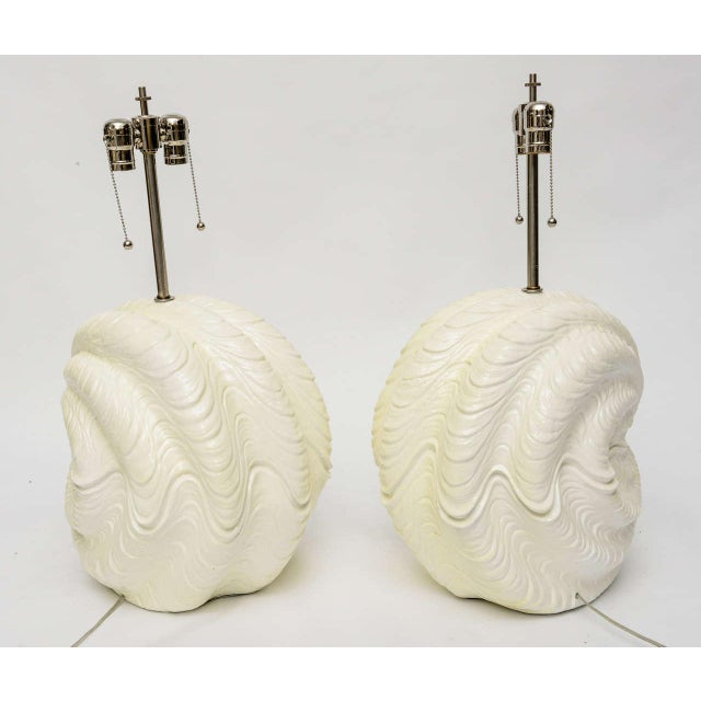 Serge Roche Serge Roche Shell Lamps, Oversized from the 1960s For Sale - Image 4 of 9