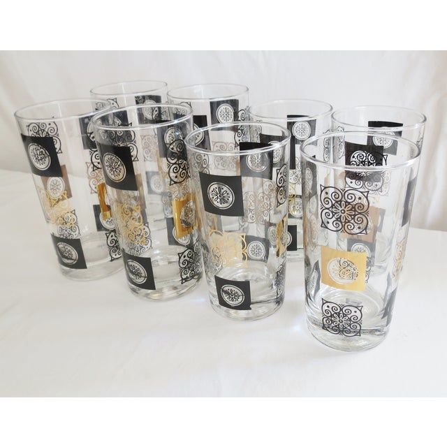 Mid-Century Modern Highball Glasses - Set of 8 - Image 4 of 7